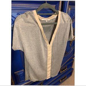Bella Luxx XS Heather Gray w/ Light Pink SS Shirt